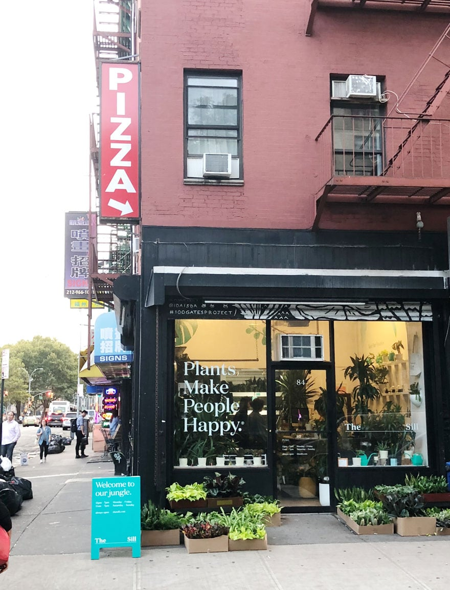plant shop store front in NYC