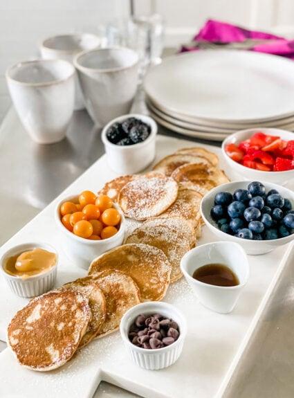 Brunch Board + Lemon Ricotta Pancakes