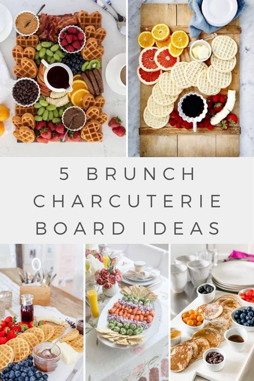 collage of several brunch boards