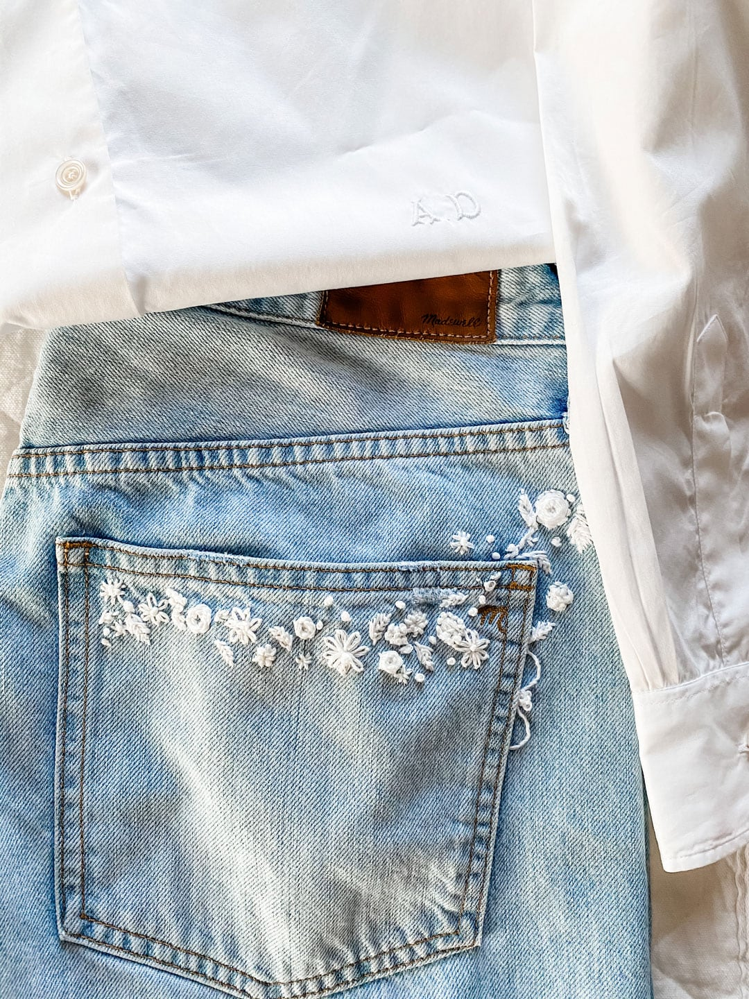 Lifestyle blogger Annie Diamond shares her new favorite embroidered jeans