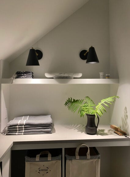 Finding space to create a laundry room