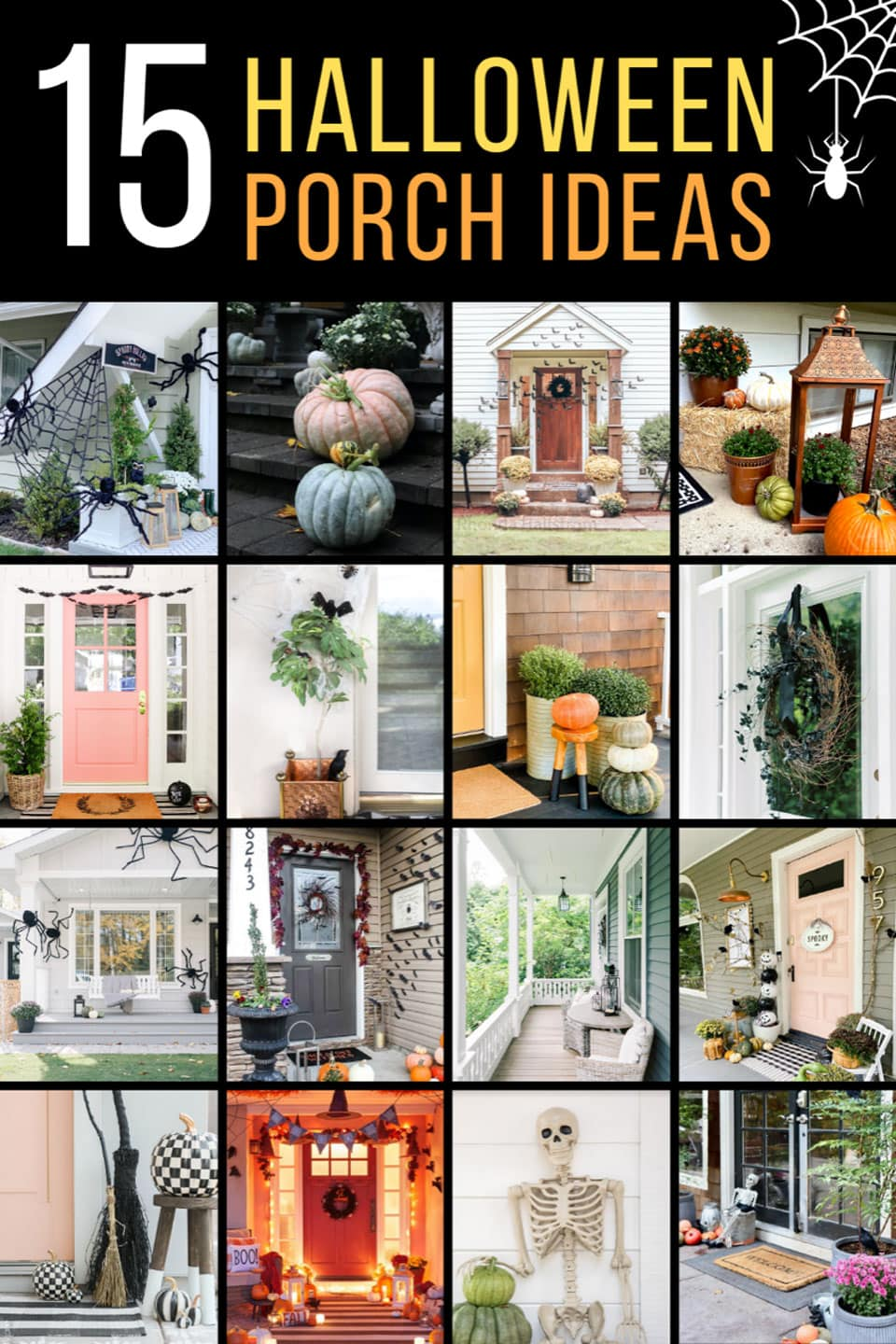 15 ideas for your Halloween Porch