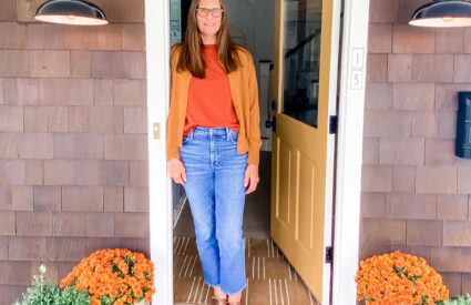 Lifestyle Blogger Annie Diamond shares her India Yellow front door