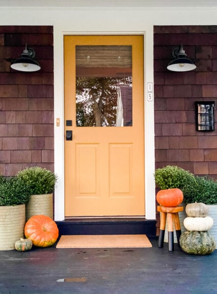 We Painted Our Door India Yellow for Fall
