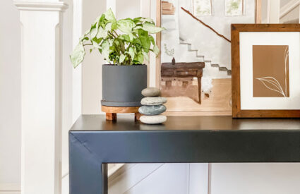 Lifestyle blogger Annie Diamond shares her ideas on how a simple console table can work in multiple rooms and ways!