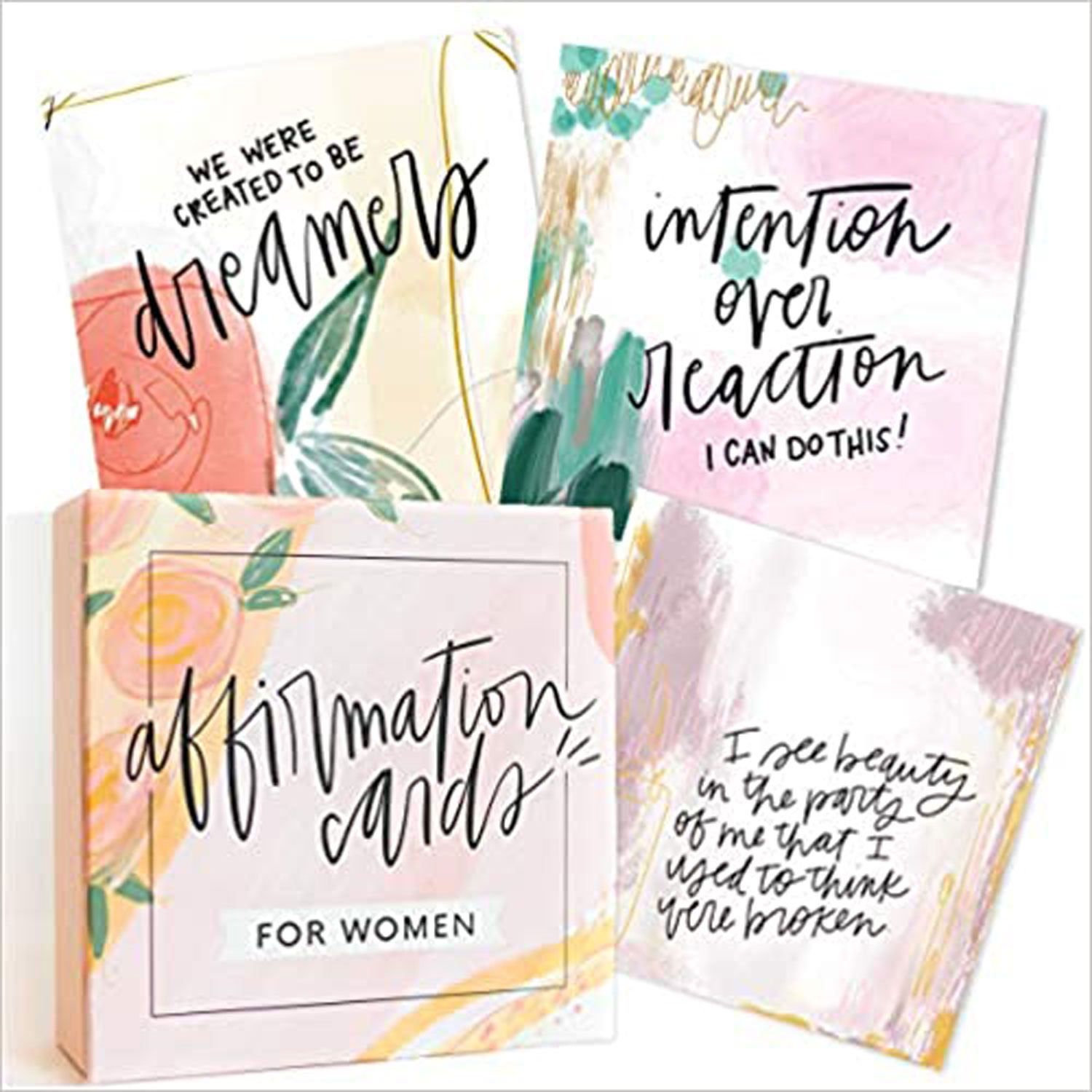 watercolor cards with hand lettering