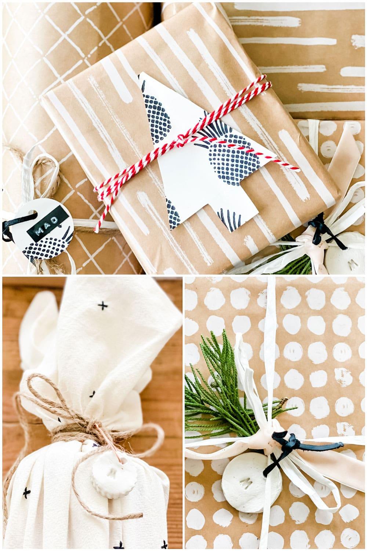 an assortment of gift wrap