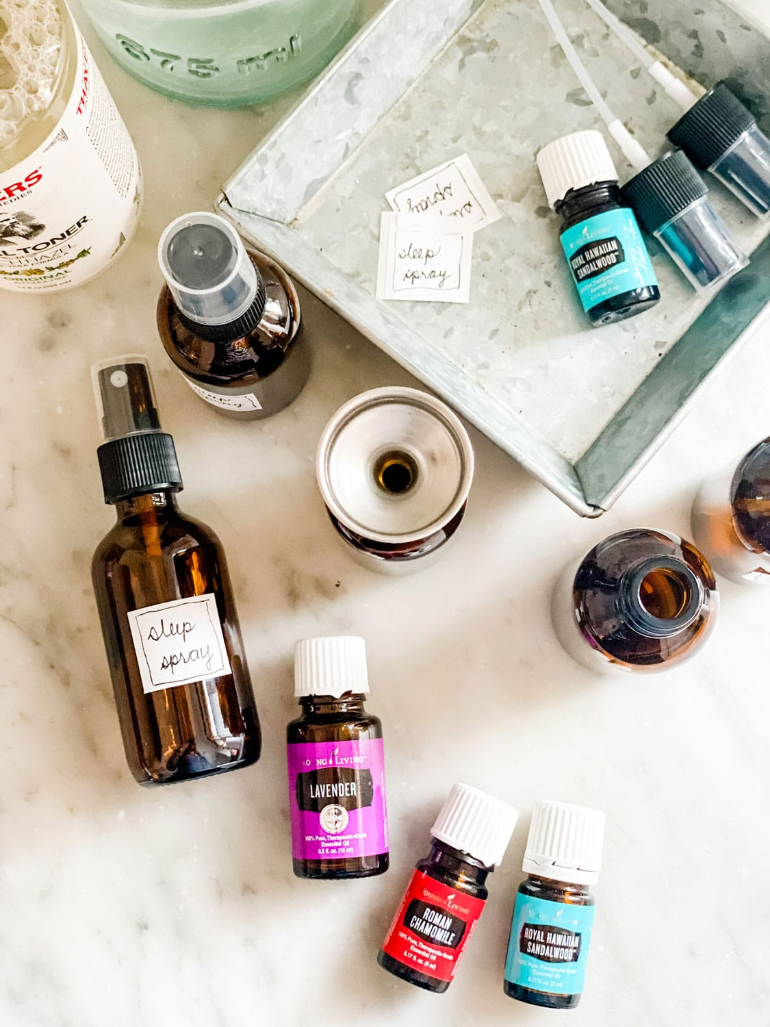 Lifestyle Blogger Annie Diamond makes her own sleep spray with a few essential oils