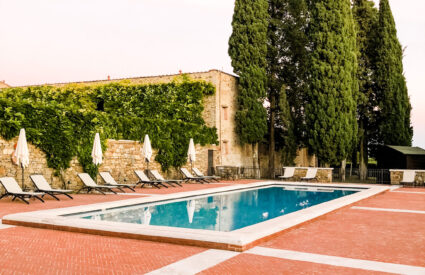 pool in Tuscany resort
