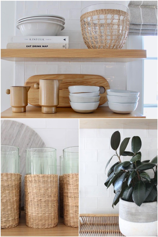 plant, open shelving