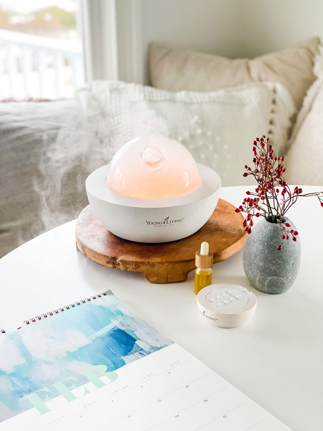 Aria diffuser on table