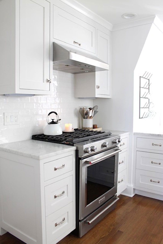 range in white kitchen