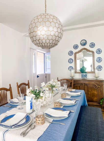 A Beautiful Blue & White Kitchen