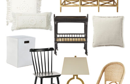 furniture, home products on white background