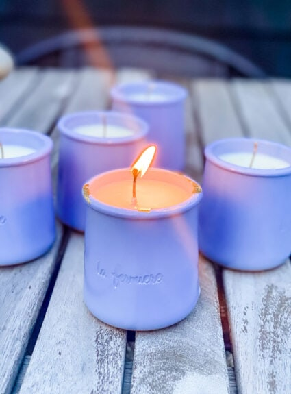 Make your own citronella candles, it's easy!