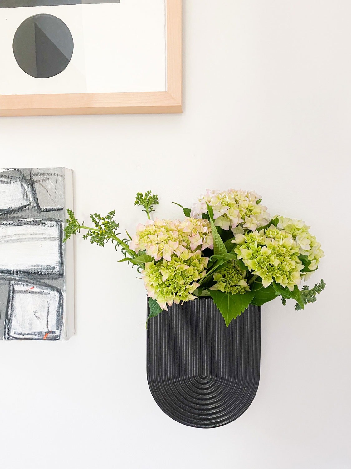 WALL VASE AND OTHER ART