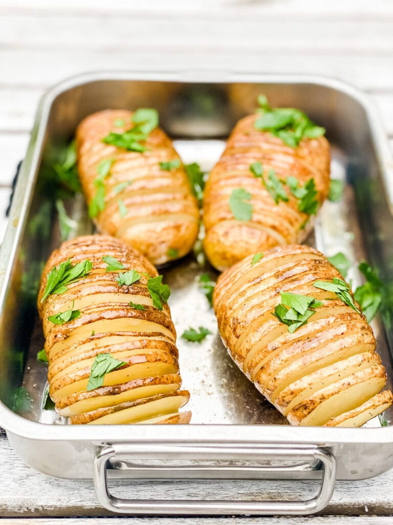 Here's a trick to making perfect Hasselback potatoes! A tool that's less than $15!
