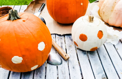 How cute are these pumpkins using cookie cutters?!