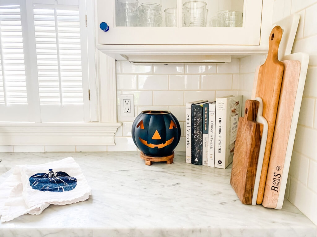 Pottery Barn Jack-o-Lantern to hold a diffuser (with a slight modification) or an electric candle.